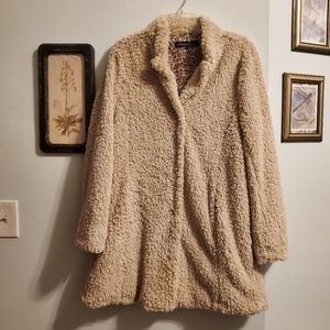 Kenneth Cole Faux Fur Fuzzy Jacket/Coat